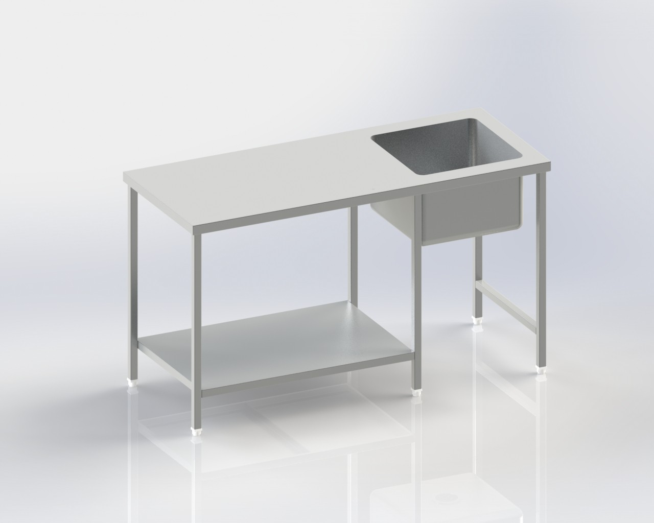 Worktable with sink|Flat top