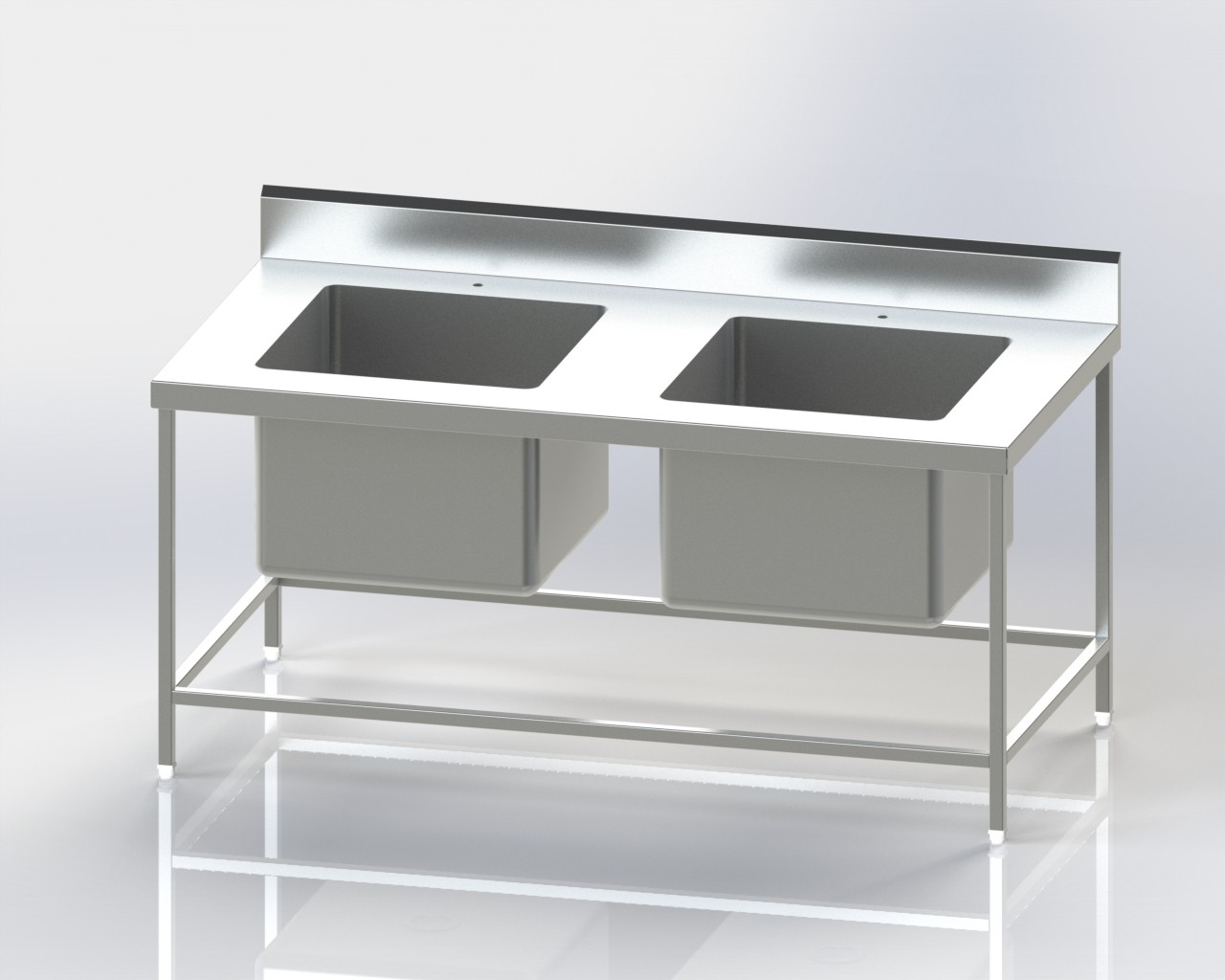 Two Sink Pot Wash Unit