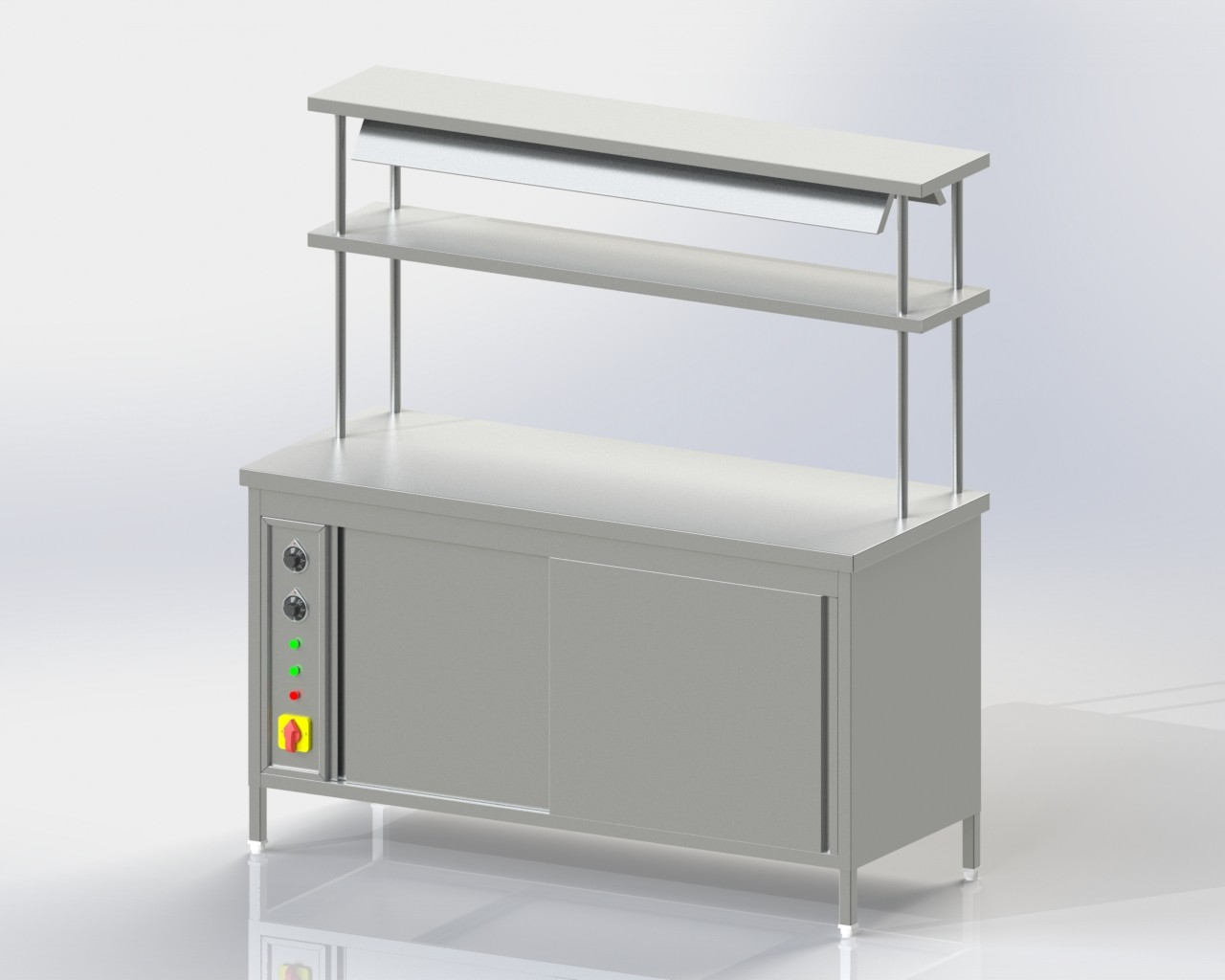 Pick up Counter 2u-s and 2 o-s + hot case IR Heater