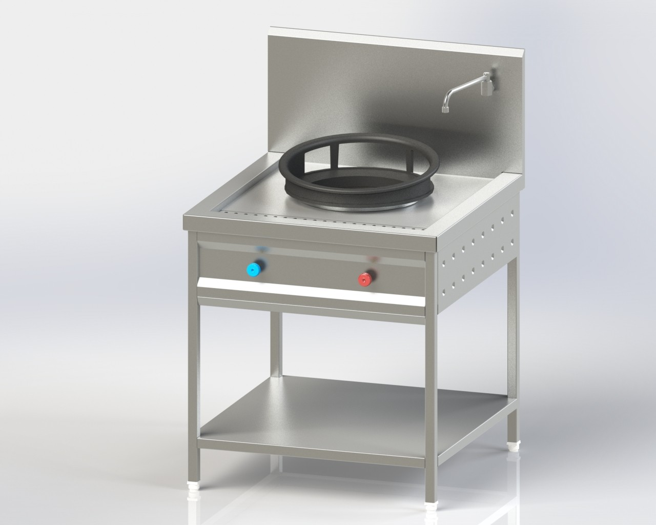 Single Burner Chineses Cooking Range