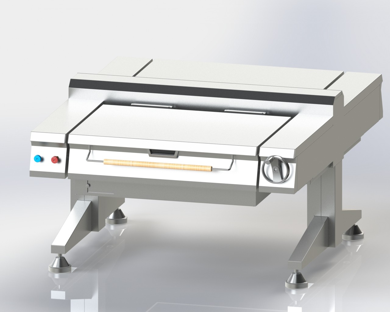 Tilting Pan Twin Unit for boiling and cooking food in bulk