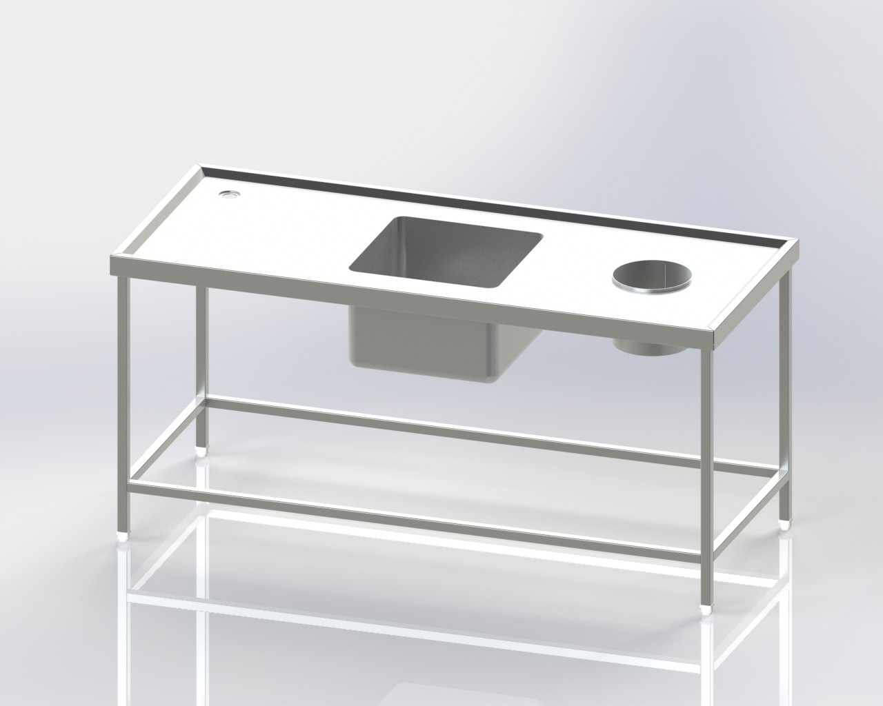 Single Sink-Scrapping Table Dish Wash Unit